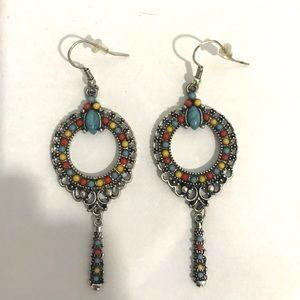 Multi-Colored Boho Style Earrings